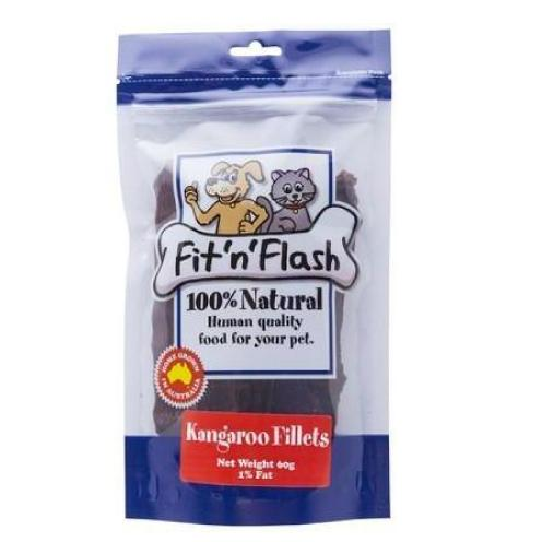 Pet Vet Clinic Singapore Buy Online - Fit n Flash Kangaroo Fillets Low Fat Treat for Dogs and Cats