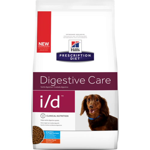 Pet Vet Clinic Singapore Buy Online - Hill's Prescription Diet i/d Small Bites for Food Sensitivities and Digestive Upset in Dogs. Free of wheat, gluten, soy protein & lactose