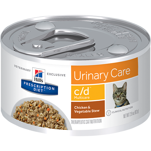 Pet Vet Clinic Singapore Buy Online - Hill's Prescription Diet c/d Urinary Care Chicken and Vegetable Stew Wet Canned Food for Urinary and Bladder Health in Cats
