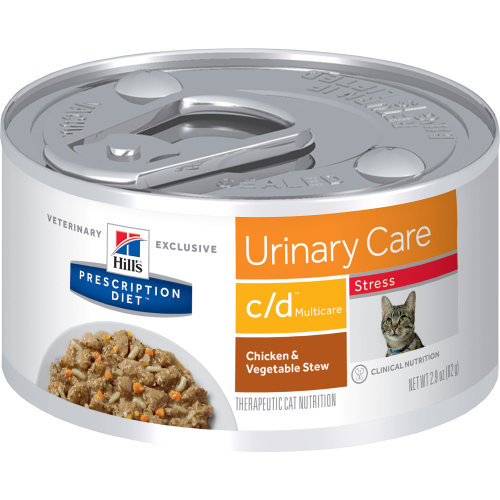 Pet Vet Clinic Singapore Buy Online - Hill's Prescription Diet c/d Stress Urinary Care Chicken and Vegetable Stew Wet Canned Food for Urinary and Bladder Health in Cats