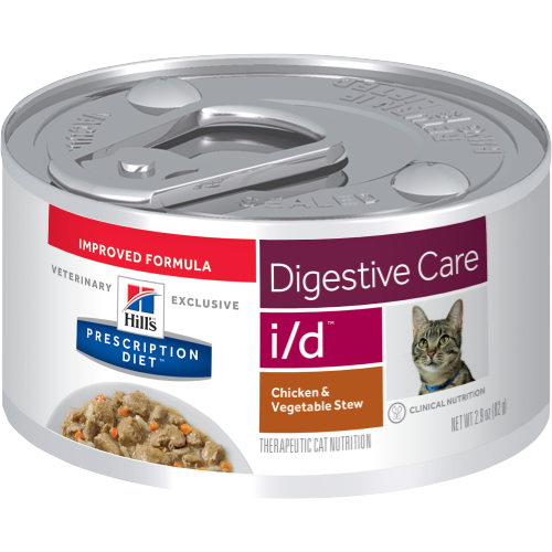 Pet Vet Clinic Singapore Buy Online - Hill's Prescription Diet i/d Chicken and Vegetable Stew Wet Canned Food Digestive Care for Digestive Upset in Cats