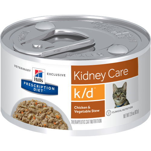 Pet Vet Clinic Singapore Buy Online - Hill's Prescription Diet k/d Chicken and Vegetable Stew Wet Canned Food for Kidney Care in Cats