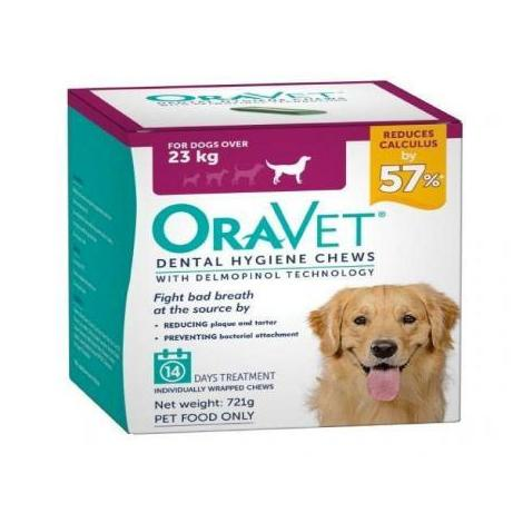 Pet Vet Clinic Singapore Buy Online - Merial Oravet Dental Hygiene Chews to clean teeth and fight plaque, calculus, and bad breath.