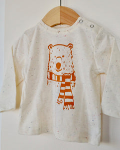 Long-sleeves bear shirt