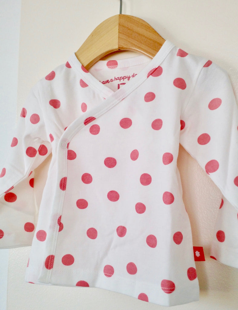 Long sleeves polka dots