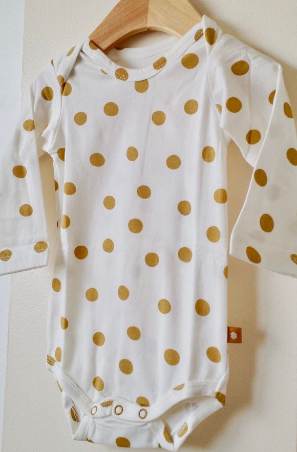 Long-sleeved Gold Dot Onesie