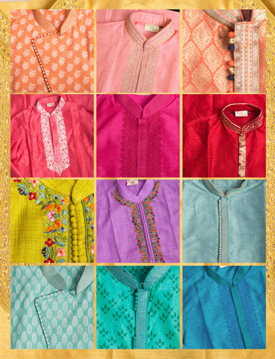 New! We've got every colour menswear kurta in store now!