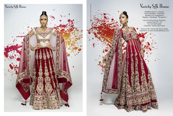 red bridal outfits lehenga anarkali