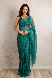 French Lace Saree 21778G_E - Variety Silk House Ltd