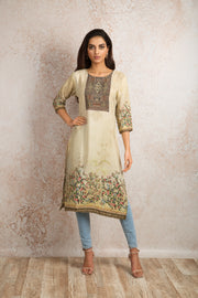 Printed Kurti V8_1157F - Variety Silk House Ltd