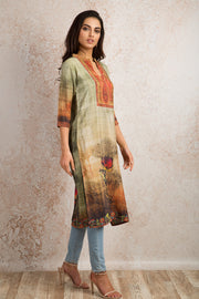 Printed Kurti V8_1157M - Variety Silk House Ltd
