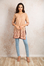 Printed Kurti V8_1155C - Variety Silk House Ltd