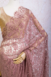 French Lace Saree 21778G_C