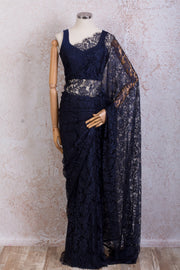 French Lace Saree 21778G_D - Variety Silk House Ltd