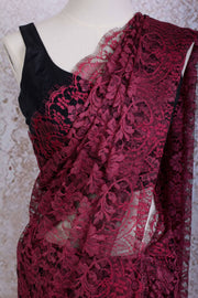 French Lace Saree 21778G_M - Variety Silk House
