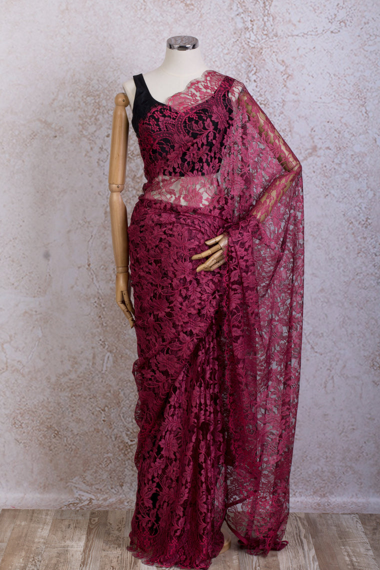 French Lace Saree 21778G_M