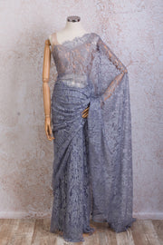 French Lace Saree 21778G_Q - Variety Silk House Ltd