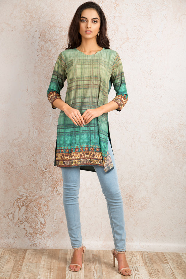Printed Kurti V8_1155H - Variety Silk House Ltd