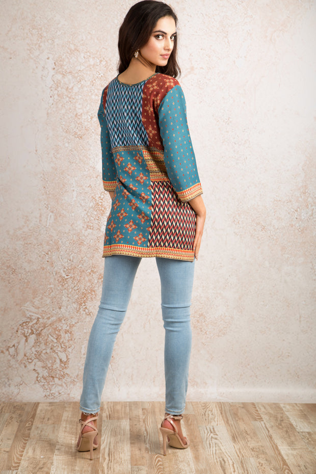 Printed Kurti V8_1156J - Variety Silk House Ltd