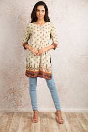 Printed Kurti V8_1155K - Variety Silk House Ltd