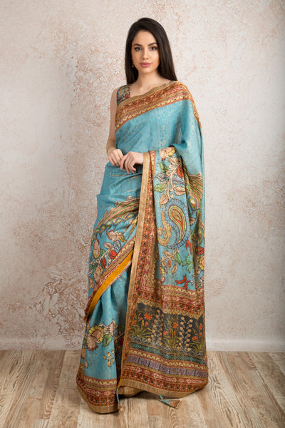 Saree digital print R8_512A - Variety Silk House Ltd