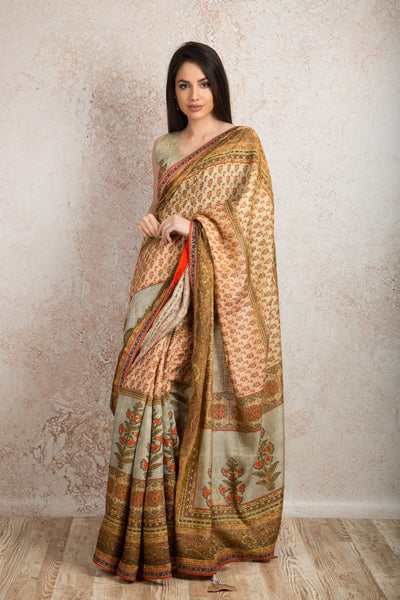 Saree digital print R8_512B - Variety Silk House Ltd