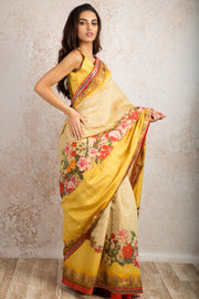 Saree digital print R8_512C - Variety Silk House Ltd