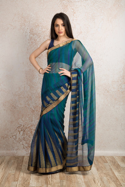 Georgette devore saree R8_210 - Variety Silk House Ltd