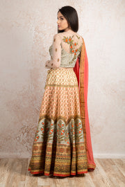 Printed choli & skirt R8_1496W - Variety Silk House Ltd