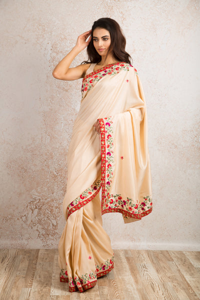 Floral border saree R8_306 - Variety Silk House Ltd