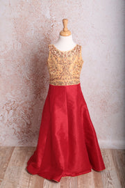 Emb Dress S8_2118 - Variety Silk House Ltd