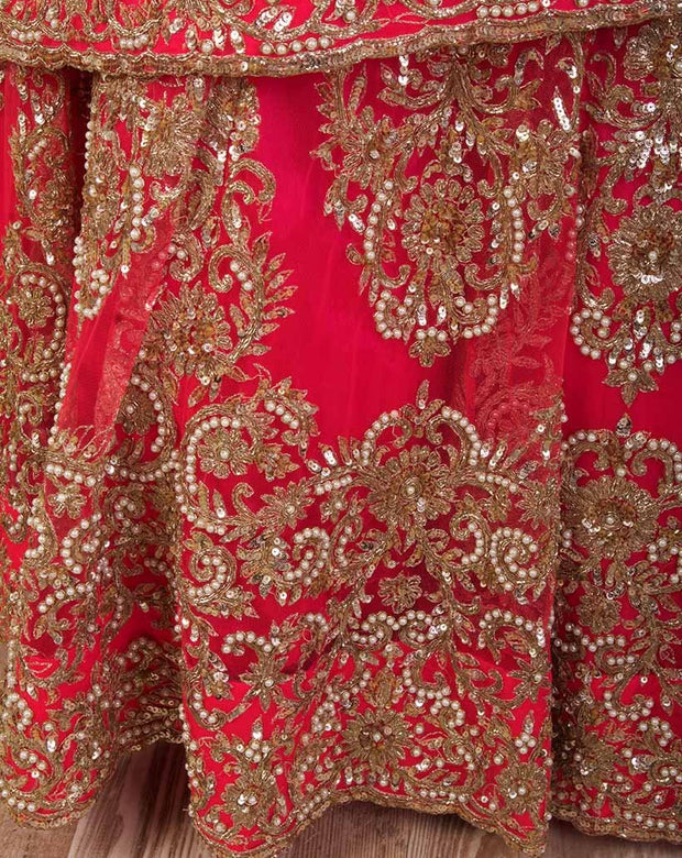 J7/1020 Shaded Net Lengha - Variety Silk House Ltd