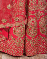 J7/1176 Dupion lengha/net skirt - Variety Silk House Ltd