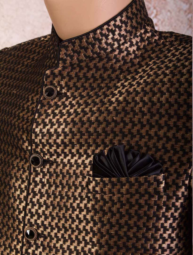 D8/2008 Chevron Brocade Jacket - Variety Silk House