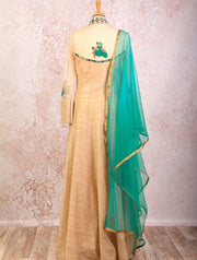 E8/1097 Floral Emb Anarkali - Variety Silk House Ltd