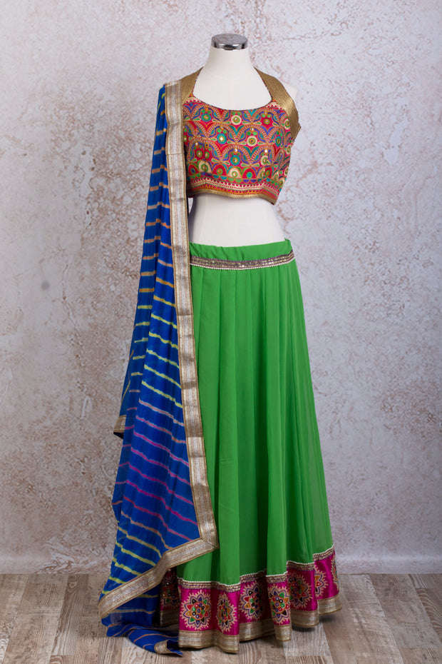H7/2053 Georgette skirt & embd choli - Variety Silk House