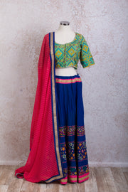 K8/2023 Embd choli/skirt - Variety Silk House