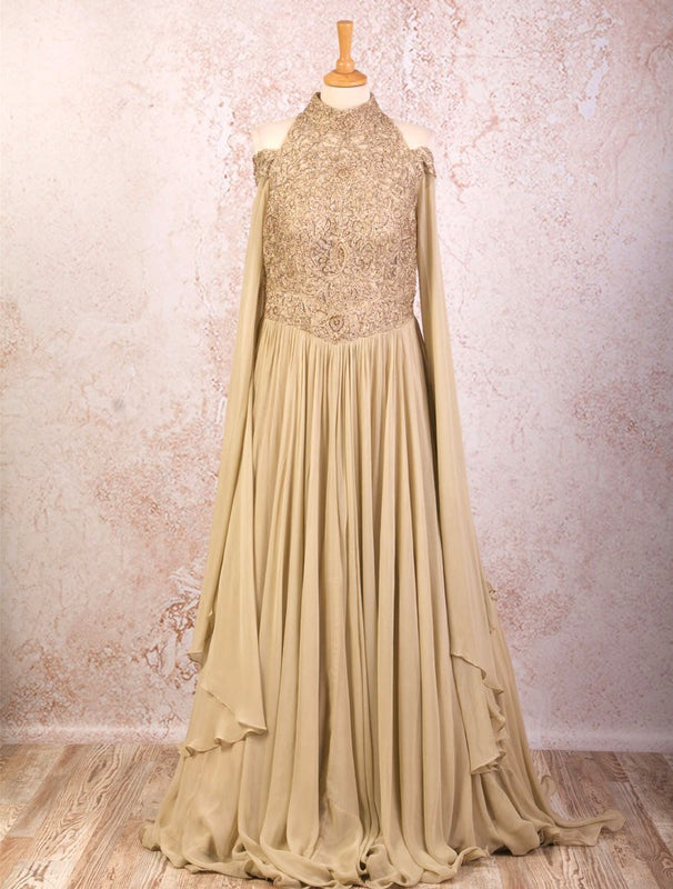 K8/1007 Net/Georgette Emb Dress