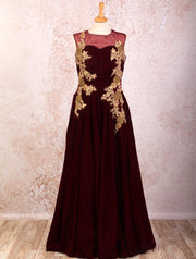 K8/1015 Velvet/Net Dress - Variety Silk House