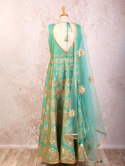 K8/1022 Gota Patti Anarkali/Leggings - Variety Silk House Ltd