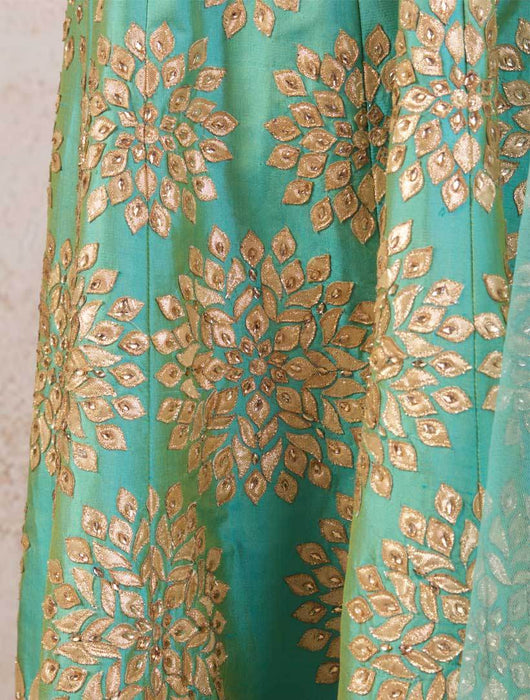 K8/1022 Gota Patti Anarkali/Leggings - Variety Silk House