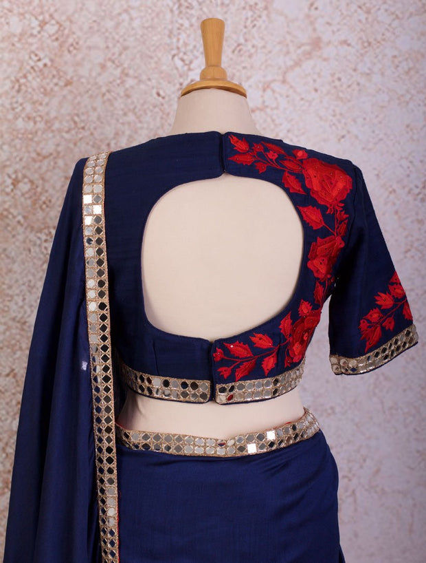 K8/11 Mirrorwork saree/blouse - Variety Silk House