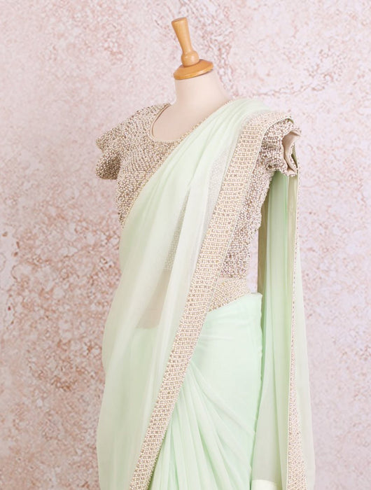 K8/7 Pearlwork saree/blouse - Variety Silk House