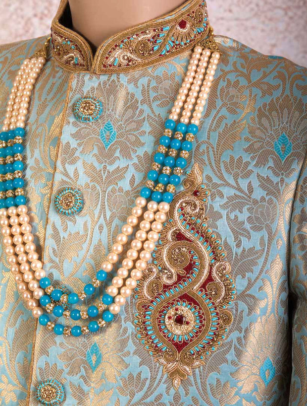K8S/18 Brocade Sherwani/Churi - Variety Silk House Ltd