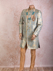 K8S/18 Brocade Sherwani/Churi - Variety Silk House