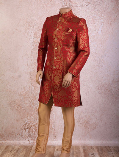 Brocade sherwani/churi - Variety Silk House