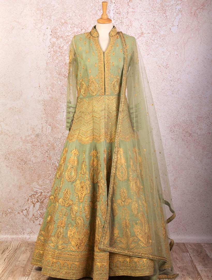 KMJ1199 Emb Anarkali Dress - Variety Silk House