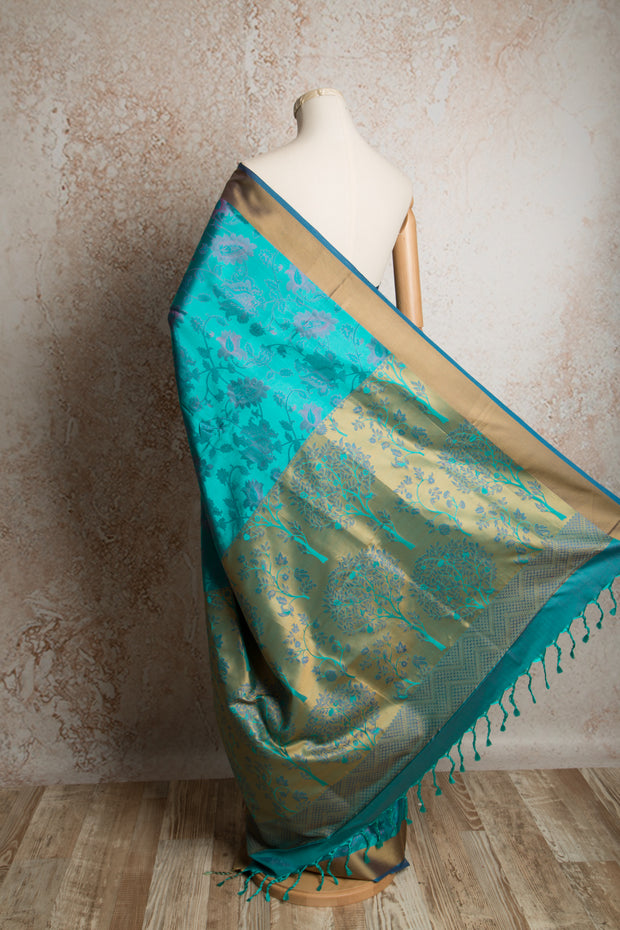 Tanjore handloom saree P8_283 - Variety Silk House Ltd