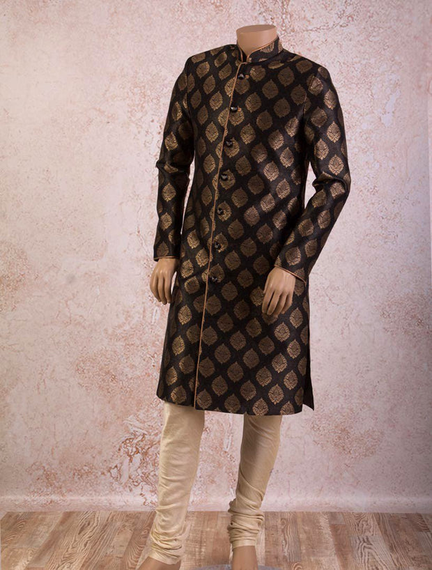 SW9614 Brocade sherwani/churi - Variety Silk House