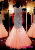 Beauty sweetheart neckline mermaid open back beading pageant formal dresses uk PM861